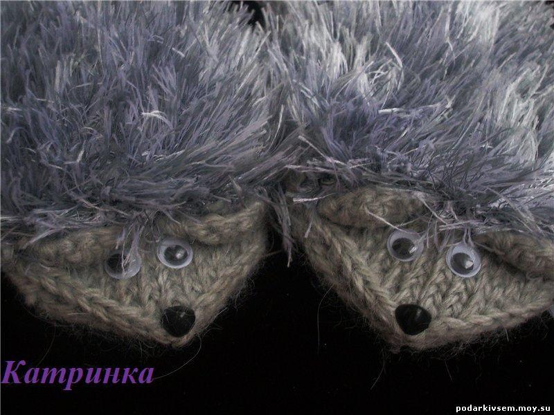 Варежки-ежики