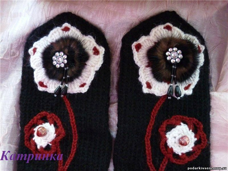 Варежки Цветок